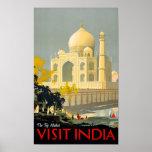 Poster Restor del viaje del vintage de la India de