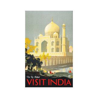 Poster Restor del viaje del vintage de la India de Impresiones De Lienzo