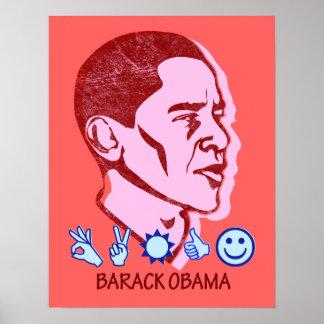 Poster retro de Barack