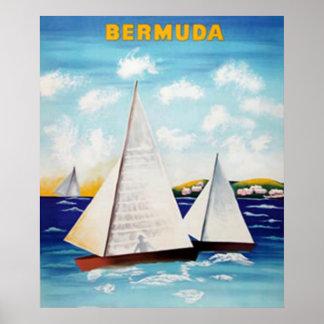 Poster retro de Bermudas