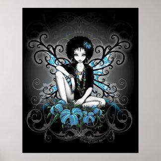Poster retro de Fae del Afro de Lilly del trullo d