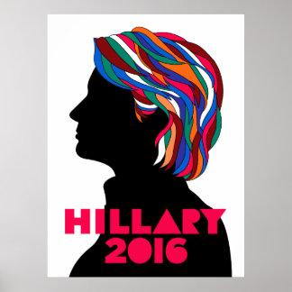 Poster retro de la campaña de Hillary Clinton 2016