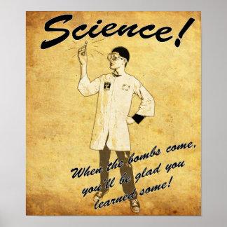 poster retro de la ciencia de los años 40