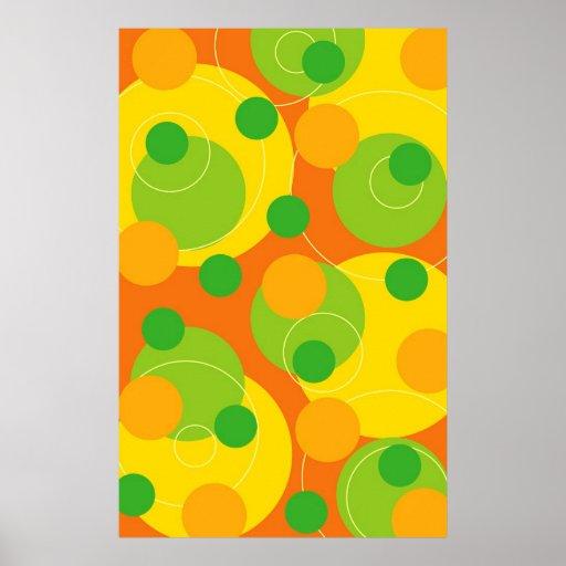 Poster retro de la fruta cítrica