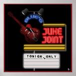 Poster retro de la junta de Juke de los azules