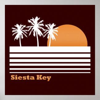 Poster retro de la llave de la siesta póster