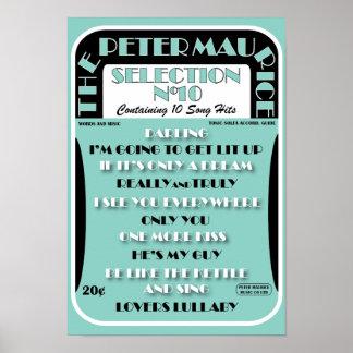 Poster retro de la partitura
