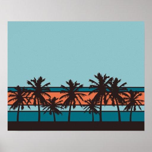 Poster retro de la playa