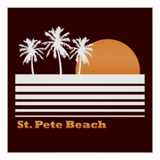 Poster retro de la playa del St Pete
