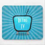 Poster retro de la televisión del vintage TV Tapete De Ratones