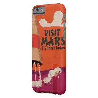 Poster retro de las vacaciones de Marte de los Funda Para iPhone 6 Barely There