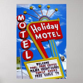 Poster retro de Las Vegas del motel del día de fie