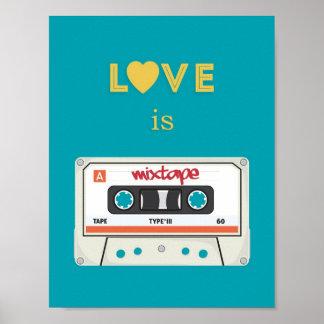 Poster retro de Mixtape