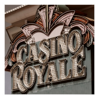 Poster retro de Royale Las Vegas del casino