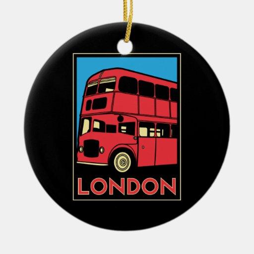 poster retro del art déco de Londres Westminster Ornamentos Para Reyes Magos