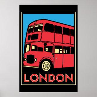 poster retro del art déco de Londres Westminster I