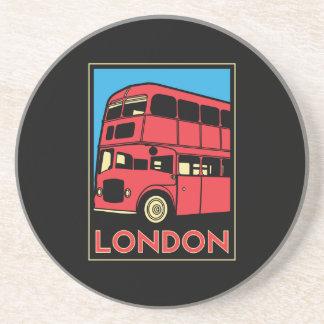 poster retro del art déco de Londres Westminster I Posavasos Diseño