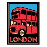 poster retro del art déco de Londres Westminster I Tarjeta Postal
