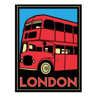 poster retro del art déco de Londres Westminster Tarjeta Postal