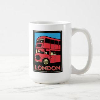 poster retro del art déco de Londres Westminster Taza Clásica