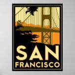 poster retro del art déco de San Francisco
