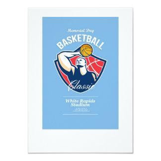 Poster retro del baloncesto del Memorial Day Anuncio