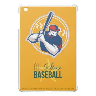 Poster retro del béisbol Todo-Americano de la estr
