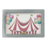 Poster retro del circo hebillas cinturon rectangulares