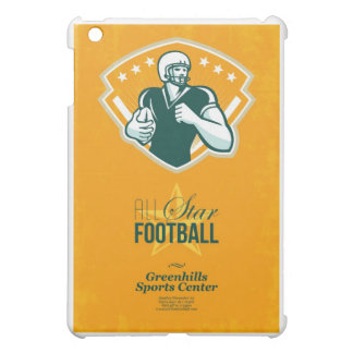Poster retro del fútbol de All Star del americano