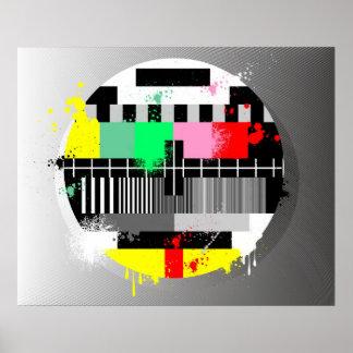 Poster retro del grunge TV