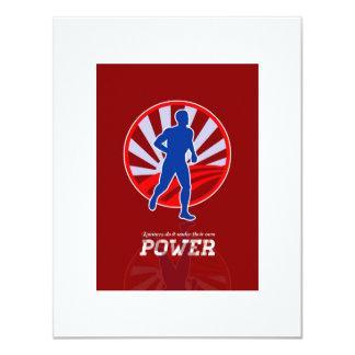 Poster retro del poder corriente del corredor comunicados
