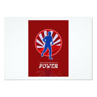 Poster retro del poder corriente del corredor anuncios personalizados