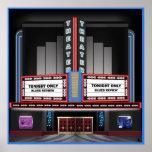 Poster retro del teatro