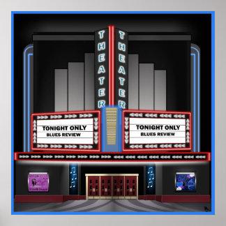 Poster retro del teatro póster