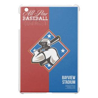 Poster retro del torneo del béisbol de All Star