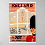 Poster retro del viaje de Inglaterra