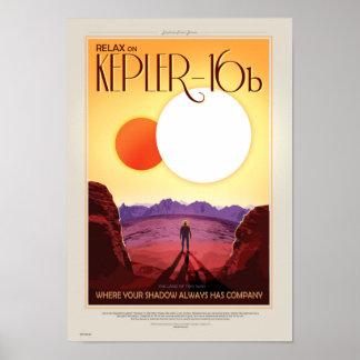 Poster retro del viaje de la NASA - relájese en