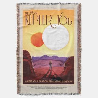 Poster retro del viaje de la NASA - relájese en Manta