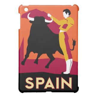 poster retro del viaje del art déco de España iPad Mini Protectores