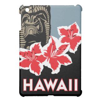 poster retro del viaje del art déco de Hawaii iPad Mini Funda
