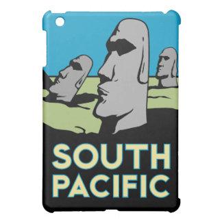 poster retro del viaje del art déco de la isla de  iPad mini cárcasa
