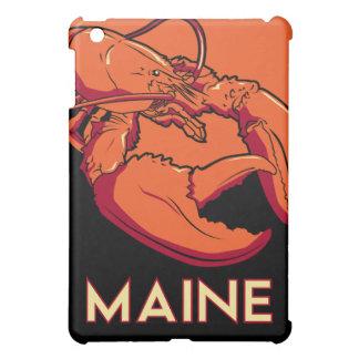 poster retro del viaje del art déco de Maine iPad Mini Cobertura