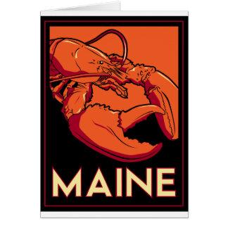 Poster retro del viaje del art déco de Maine Tarjetas