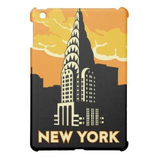 poster retro del viaje del art déco de Nueva York iPad Mini Funda