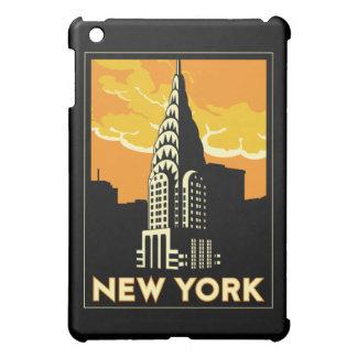 poster retro del viaje del art déco de Nueva York iPad Mini Coberturas
