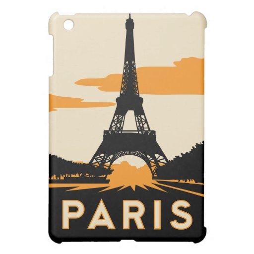 poster retro del viaje del art déco de París iPad Mini Protector