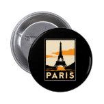 poster retro del viaje del art déco de París Pins