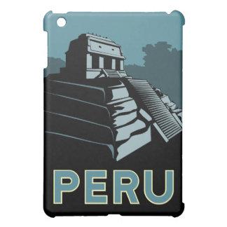 poster retro del viaje del art déco de Perú iPad Mini Carcasas