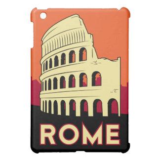 poster retro del viaje del art déco de Roma Italia iPad Mini Cobertura