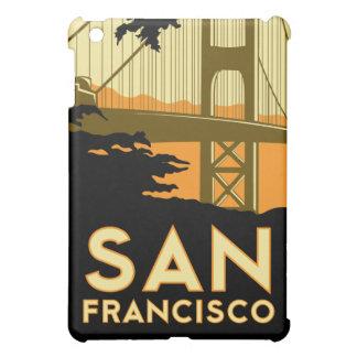 poster retro del viaje del art déco de San Francis iPad Mini Cárcasas